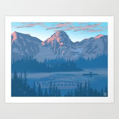 Bear Country Art Print