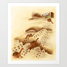 Dinosaur Migration Art Print