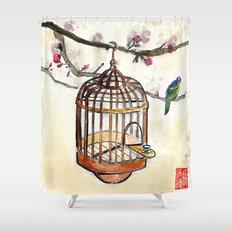 Chinese tea break Shower Curtain