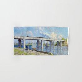 Claude Monet - Railway Bridge Hand & Bath Towel