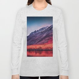 Colorful landscape of mountains by the lake Long Sleeve T-shirt