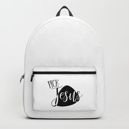 Christian Design Pick Jesus with Guitar Pick Graphic for Musicians Backpack