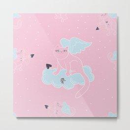 Cat the Cupid Metal Print