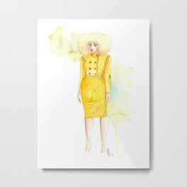 Lemon Limeade Metal Print