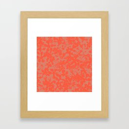 Coral Botanical Pattern - Broken but Flourishing Framed Art Print