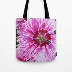 Pink and White Flowers Tote Bag