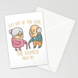 Caregiver Nurse Funny Elder People Retirement Home Nursing T-Shirt Stationery Cards