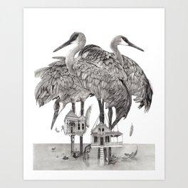 Birdhouses Art Print