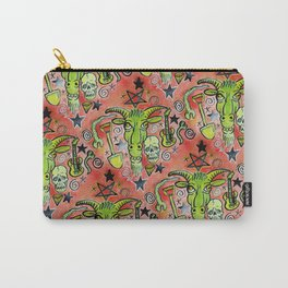 Merry Demon Goat Satanic Patchwork Carry-All Pouch