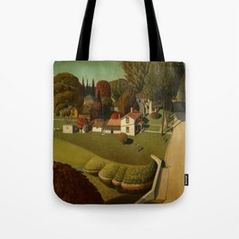 Birthplace of Herbert Hoover, West Branch, Iowa by Grant Wood Tote Bag