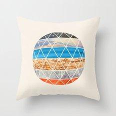 Eco Geodesic  Throw Pillow