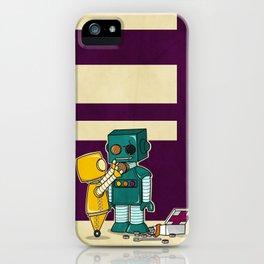 Robots on Friendship iPhone Case