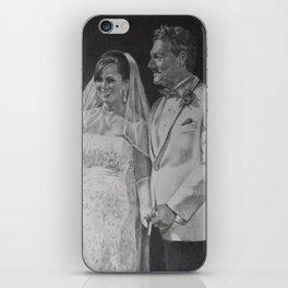 G & B Wedding portrait iPhone Skin