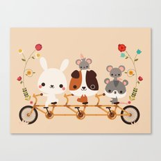 Tandem Ride Canvas Print