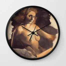 Vintage Nude Pinup Wall Clock
