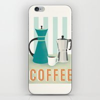 coffee iPhone & iPod Skins featuring Coffee by Jenny Tiffany