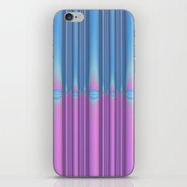 Blue Flame, Pink Flame iPhone Skin