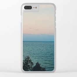 Summer evening sky by the lake Clear iPhone Case