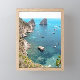 Faraglioni Rocks Island of Capri Italy Framed Mini Art Print