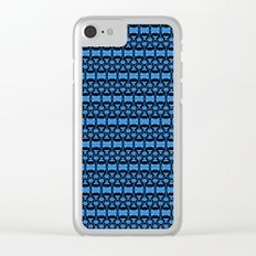 Dividers 02 in Blue over Black Clear iPhone Case