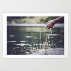 agua que no has de beber déjala correr...pues así con todo Art Print