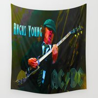 dc Wall Tapestries featuring AC/DC by Don Kuing