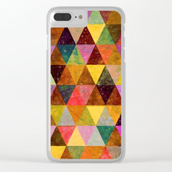 Abstract #370 Clear iPhone Case