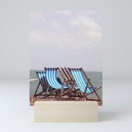Vintage Deckchairs Mini Art Print