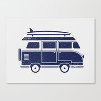 volkswagen Canvas Prints featuring Volkswagen by adovemore