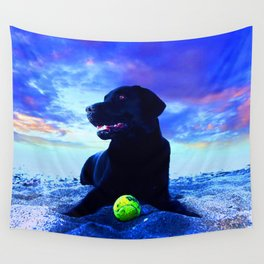 Ziggy Black Labrador Wall Tapestry