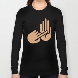 Saginaw Michigan Hand Map Long Sleeve T-shirt