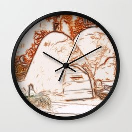Adobe Ovens Wall Clock