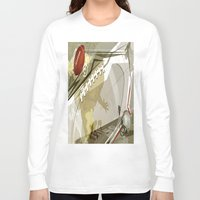 football Long Sleeve T-shirts featuring Football by Robin Curtiss