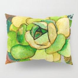 Pietra Rosetta Succulent Garden Pillow Sham