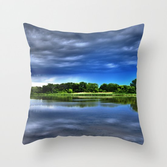 Rock Cut State Park - HDR Throw Pillow