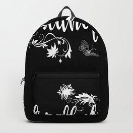 Cemetery Gardener Floristry Gift Idea Motif Backpack