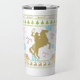 Cowboy Rodeo Christmas Ugly Shirt.png Sweater Ugly Design Travel Mug