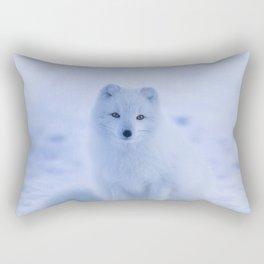 White Snow Fox Softness Rectangular Pillow