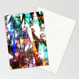 Light Streaming Through Stained Glass Stationery Cards