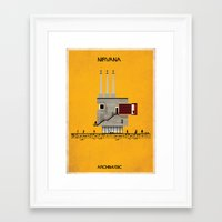 nirvana Framed Art Prints featuring Nirvana by federico babina