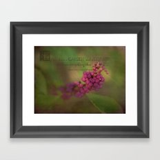 Two Important Things Framed Art Print