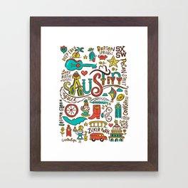Austin Icons Framed Art Print