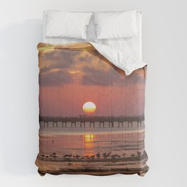 Sunset in Corolla Comforters