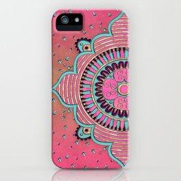 India Pink Mandala Pattern iPhone Case