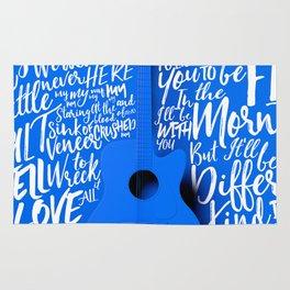 Lyrics & Type - Bon Iver - Skinny Love Rug