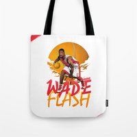 nba Tote Bags featuring NBA Legends: Dwyane Wade by Akyanyme