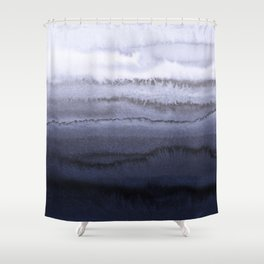WITHIN THE TIDES BLUE Shower Curtain