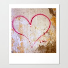 love you.. Canvas Print