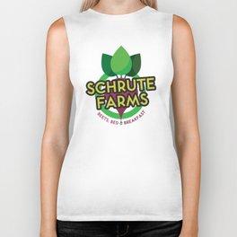 The Office - Schrute Farms Custom Logo Biker Tank