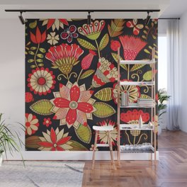 Blooms Butterflies and Ladybugs Wall Mural